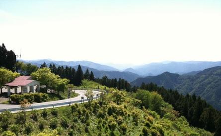 """Rota """"Dragon Skylin"""", também conhecida como """"Paraíso do Ciclista"""", Wakayama, Japão 2009"""
